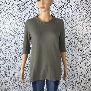 Anthro || Stateside green NWT blouse size small